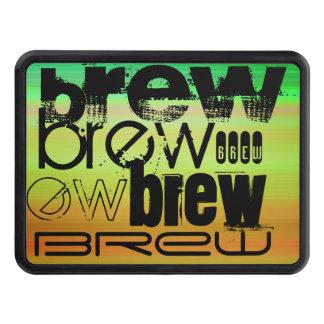 Brew; Vibrant Green, Orange, & Yellow Trailer Hitch Cover