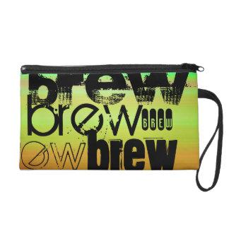 Brew; Vibrant Green, Orange, & Yellow Wristlet Purse