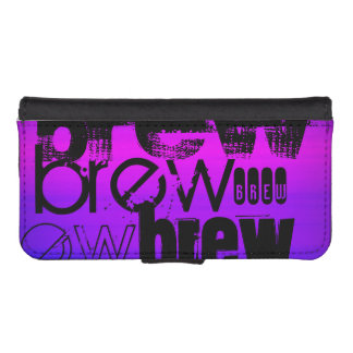 Brew; Vibrant Violet Blue and Magenta iPhone 5 Wallets