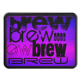 Brew; Vibrant Violet Blue and Magenta Tow Hitch Covers