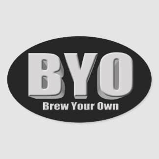 Brew Your Own Beer Oval Sticker