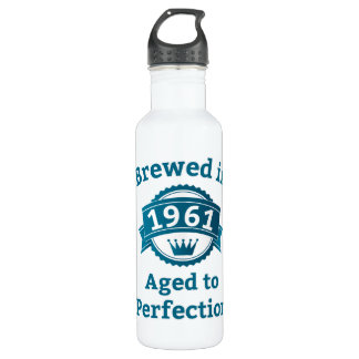 Brewed in 1961 Aged to Perfection Stainless Steel Water Bottle