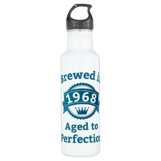 Brewed in 1968 Aged to Perfection Stainless Steel Water Bottle