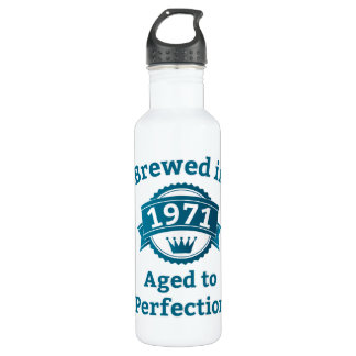 Brewed in 1971 Aged to Perfection Stainless Steel Water Bottle