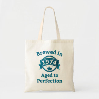 Brewed in 1974 Aged to Perfection Tote Bag
