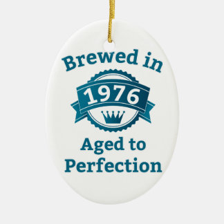 Brewed in 1976 Aged to Perfection Christmas Tree Ornament