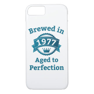 Brewed in 1977 Aged to Perfection iPhone 7 Case