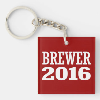 BREWER 2016 Double-Sided SQUARE ACRYLIC KEYCHAIN