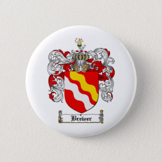 BREWER FAMILY CREST -  BREWER COAT OF ARMS BUTTON