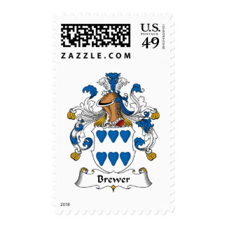 Brewer Family Crest Postage
