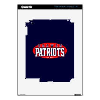 Brewer High School; Patriots Decals For iPad 3