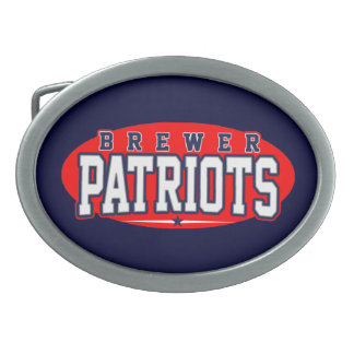 Brewer High School; Patriots Oval Belt Buckle
