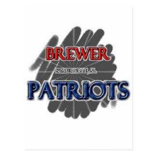 Brewer High School Patriots Somerville AL Postcards