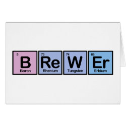 Greeting Card with Brewer design
