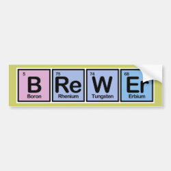 Bumper Sticker with Brewer design