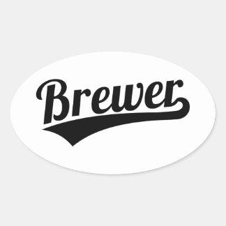 Brewer Oval Sticker