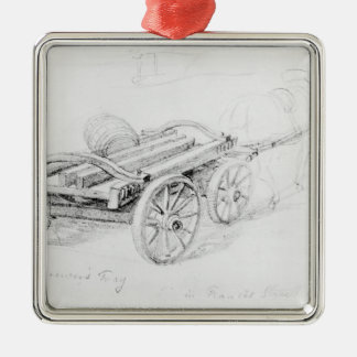 Brewer's Dray in Francis Street, 1833 Metal Ornament