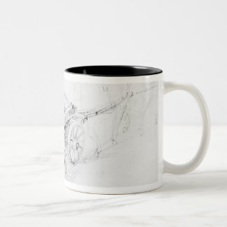 Brewer's Dray in Francis Street, 1833 Two-Tone Coffee Mug