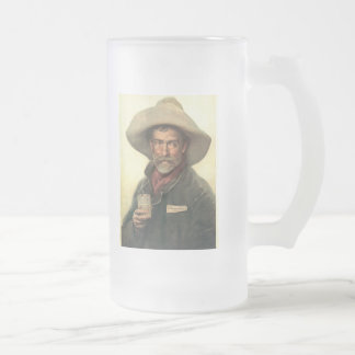 Brewery Ad 1889 Frosted Glass Beer Mug