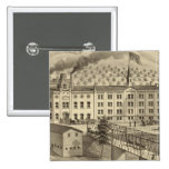 Brewery and malt house of A Reymann 2 Inch Square Button