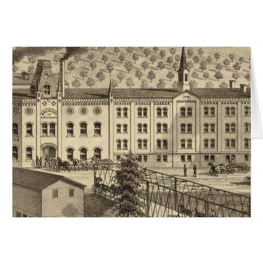 Brewery and malt house of A Reymann Greeting Card
