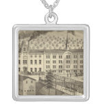 Brewery and malt house of A Reymann Square Pendant Necklace