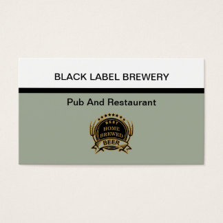 Brewery And Restaurant Theme Business Card