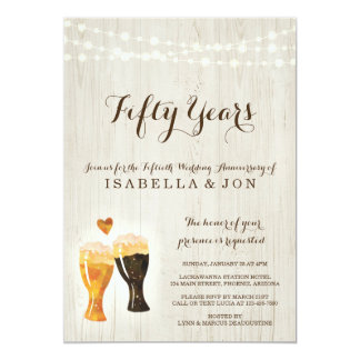 Brewery Anniversary Party Invitation | Rustic Beer