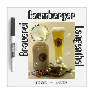 Brewery Baumberger Langenthal note board