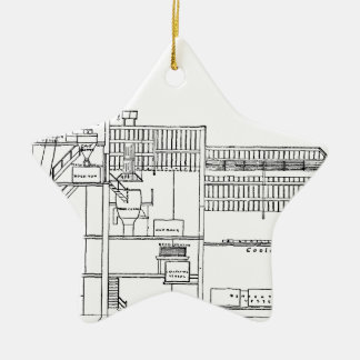 Brewery Blueprint Ceramic Ornament