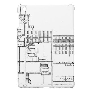 Brewery Blueprint iPad Mini Cover