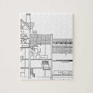 Brewery Blueprint Jigsaw Puzzle