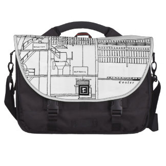 Brewery Blueprint Laptop Computer Bag