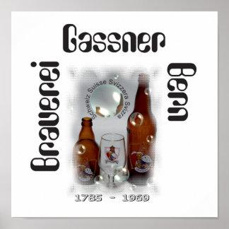 Brewery Gassner Berne poster