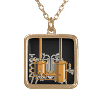 Brewery Gold Plated Necklace