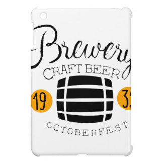 Brewery Logo Design Template With Barrel iPad Mini Cases