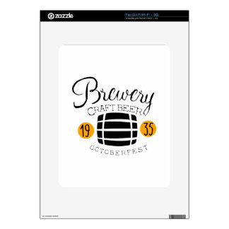 Brewery Logo Design Template With Barrel Skin For iPad