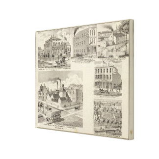 Brewery of Paul Reising, New Albany Canvas Print