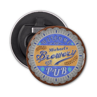Brewery Pub Personalized Beer Bottle Cap Bottle Opener