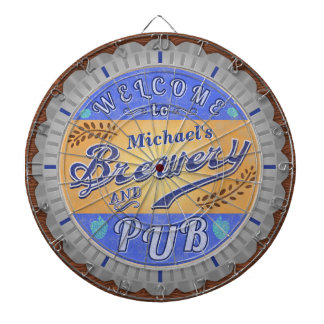Brewery Pub Personalized Beer Bottle Cap Dart Board