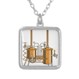 Brewery Silver Plated Necklace