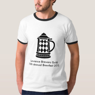 Brewfest 2010 Full Front Design in Black T-Shirt