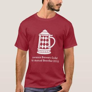 Brewfest 2010 Full Front Design in White T-Shirt