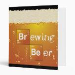 Brewing Beer 3 Ring Binder
