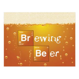 Brewing Beer Postcard
