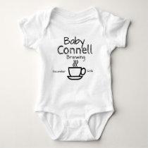 brewing pregnancy annoucement baby bodysuit