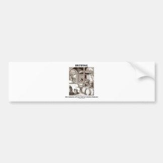 Brewing The Earliest Application Of Biotechnology Car Bumper Sticker