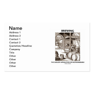 Brewing The Earliest Application Of Biotechnology Double-Sided Standard Business Cards (Pack Of 100)
