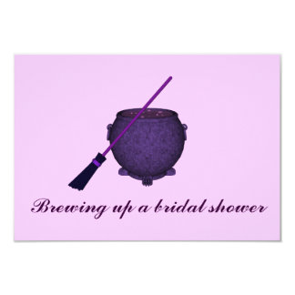 """Brewing Up a Bridal Shower"" w/ Broom & Cauldron ( Card"