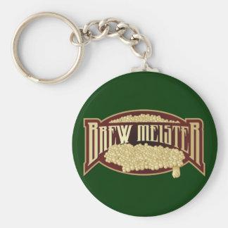 BrewMeister Basic Round Button Keychain
